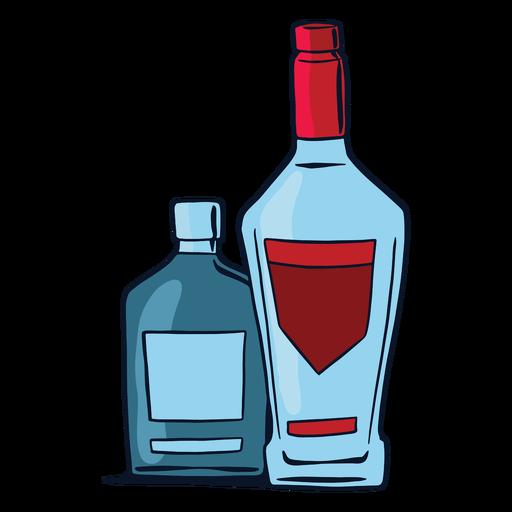 Alcoholic beverages bottles