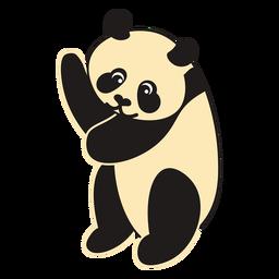 Panda bear cartoon