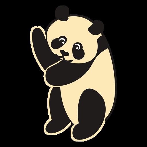 Dibujos animados de oso panda