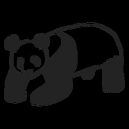 Lindo diseño de oso panda