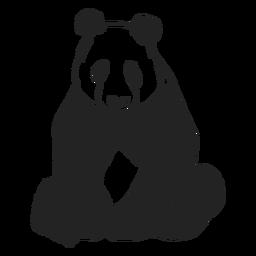 Panda bear sitting flat