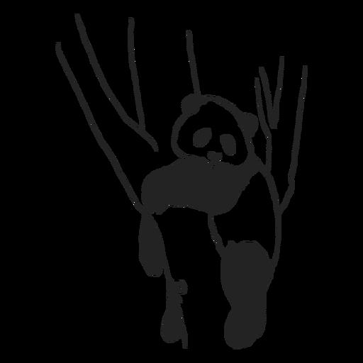 Panda descansando en el árbol