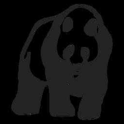 Urso panda caminhando