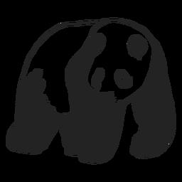 Animal urso panda caminhando