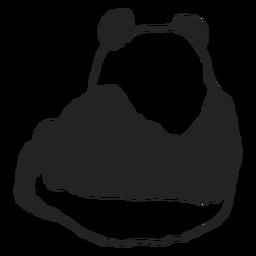 Panda bear backwards