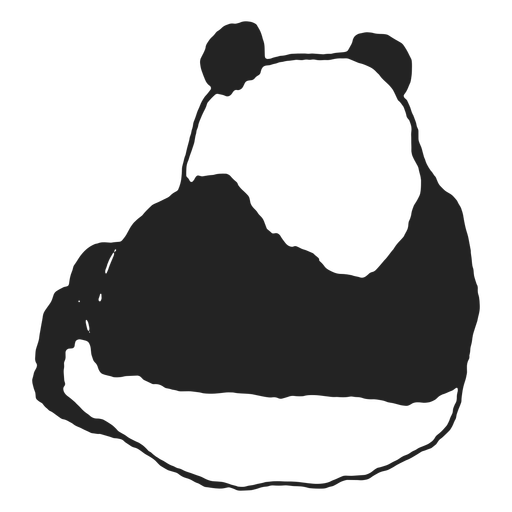 Oso panda al revés
