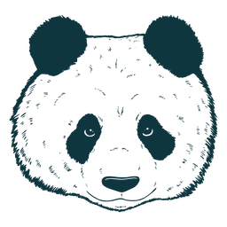 Panda cabeza dibujada a mano lindo