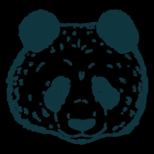 Cabeça de panda desenhada à mão fofa