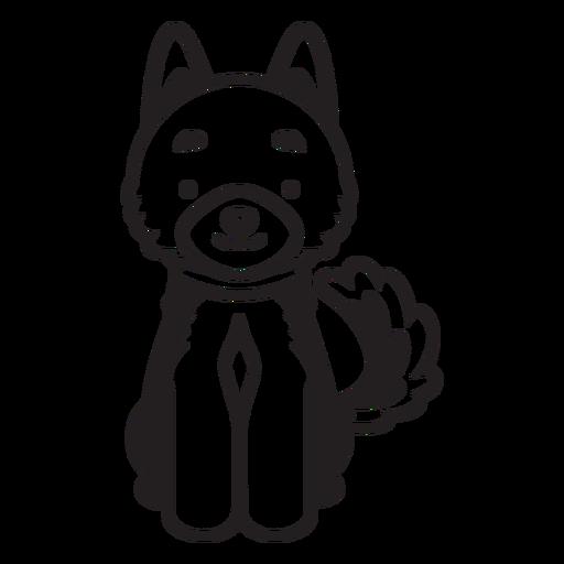 Cute puppy dog cartoon