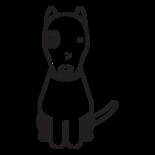 Bull terrier puppy dog