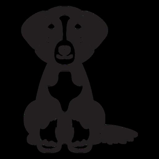 Cute puppy cut-out