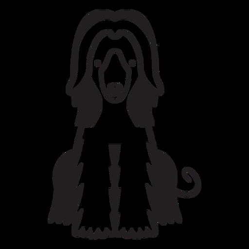 Dog puppy hairy