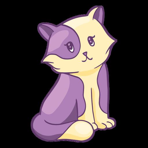 Dibujos animados de gatito adorable