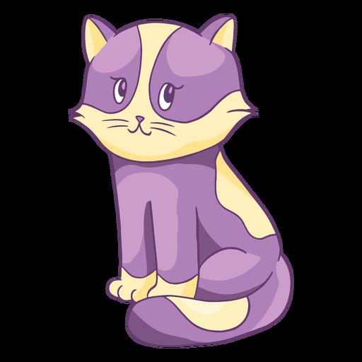 Adorable personaje de dibujos animados de gatito