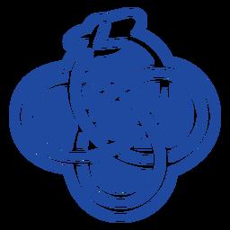 Snake celtic knot cut-out