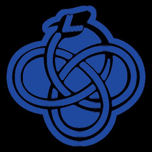 Recorte de nudo celta de serpiente