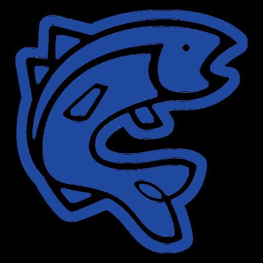 Blue fish celtic knot cut-out