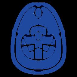 Oval shaped celtic knot