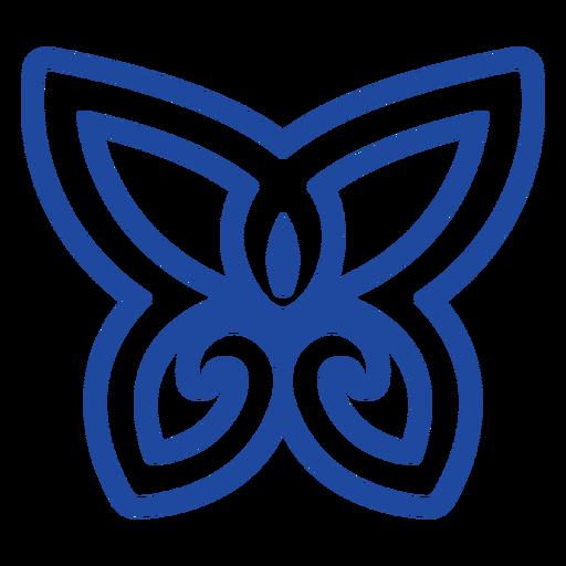 Blue butterfly celtic knot