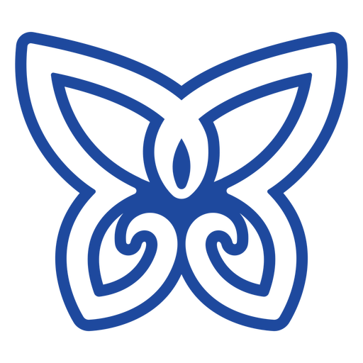 Nudo celta mariposa azul