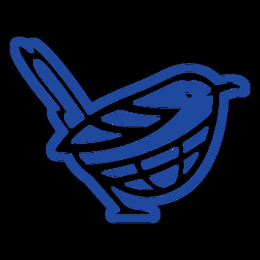 Blue bird celtic knot cut-out