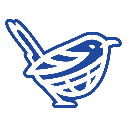 Recorte de nudo celta pájaro azul