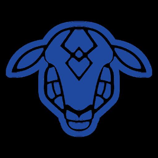 Blue goat celtic knot cut-out