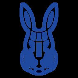 Rabbit head celtic knot cut-out