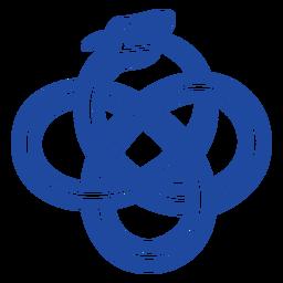 Animales celtas trazo azul - 0