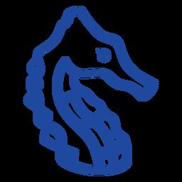 Celtic knot seahorse