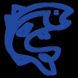 Celtic knot blue fish
