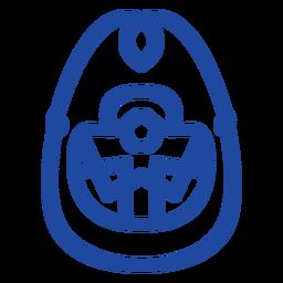 Celtic knot oval-shaped