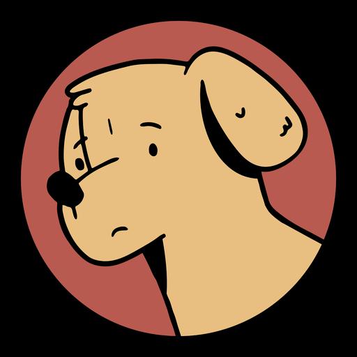 Cartoon dog face badge