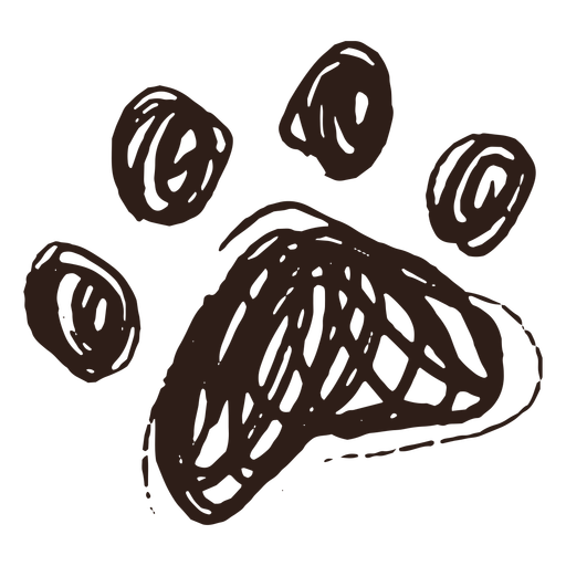 Dog paw hand drawn