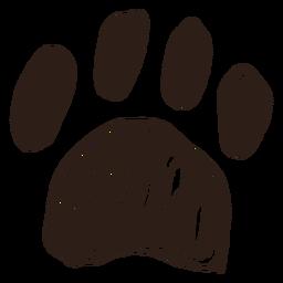Hand drawn paw stroke