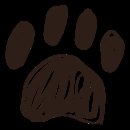 Trazo de pata dibujado a mano