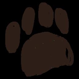 Hand gezeichnete Strichpfote