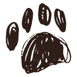 Pata de trazo dibujado a mano
