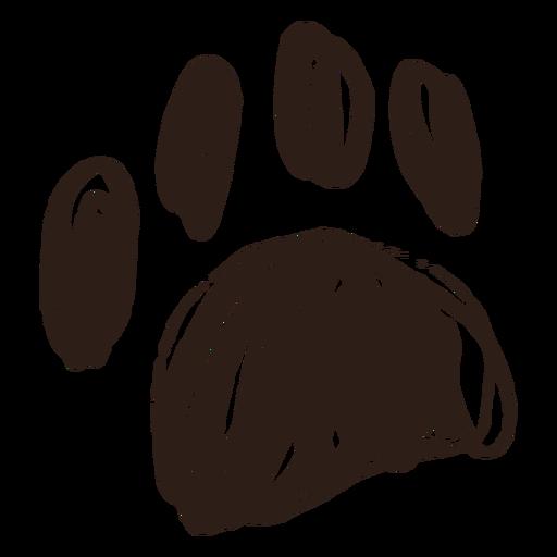 Hand drawn stroke paw