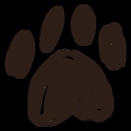 Pata dibujada a mano simple
