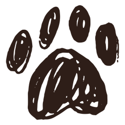 Paw hand drawn simple