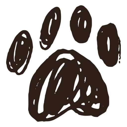 Paw hand drawn simple Transparent PNG