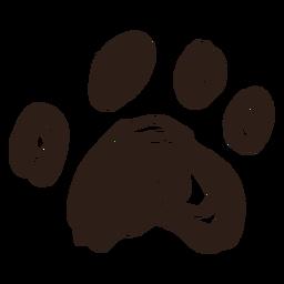Dibujado a mano doodle pata