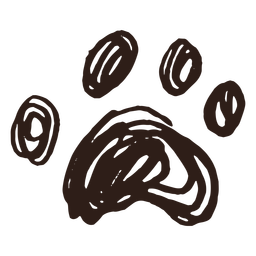 Gekritzelpfotenhand gezeichnet