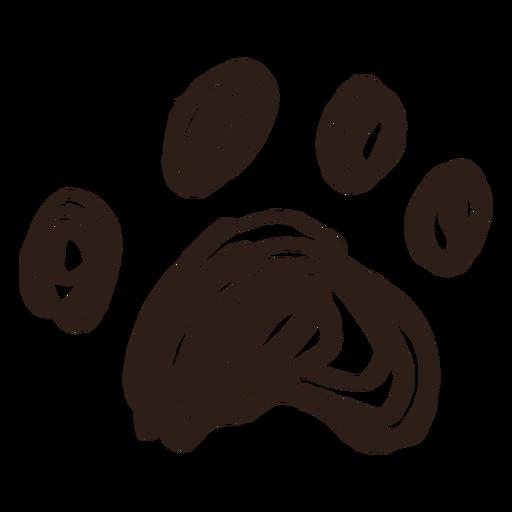 Doodle pata desenhada à mão