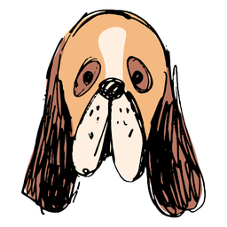 Basset hound dog hand drawn