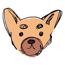 Hand drawn cute chihuahua face