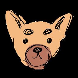 Hand gezeichnetes niedliches Chihuahua-Gesicht