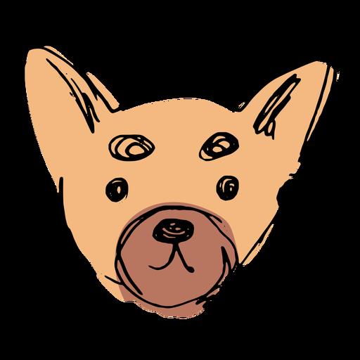 Dibujado a mano linda cara de chihuahua Transparent PNG
