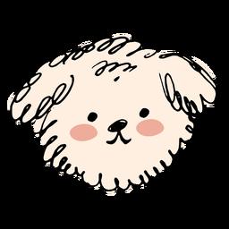 Hand drawn poodle dog